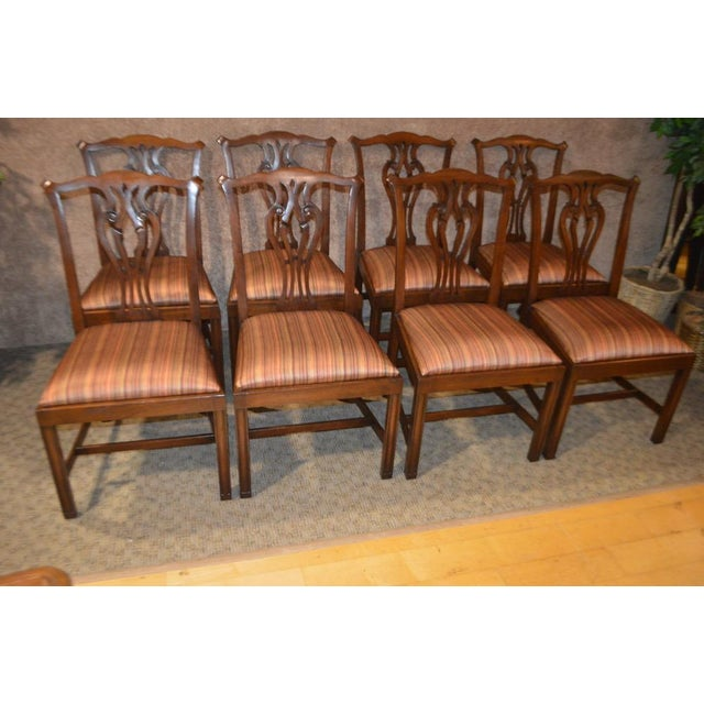 1970s Vintage Ardley Hall Mahogany Chippendale Style Chairs - Set of 8 For Sale - Image 5 of 13