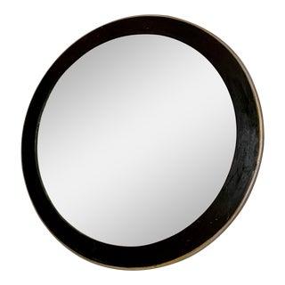 Vintage Modern Round Mirror For Sale