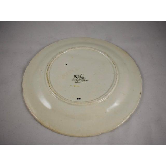 Ceramic K&G St. Clément French Faïence Bleeding Heart Asparagus Plate For Sale - Image 7 of 10