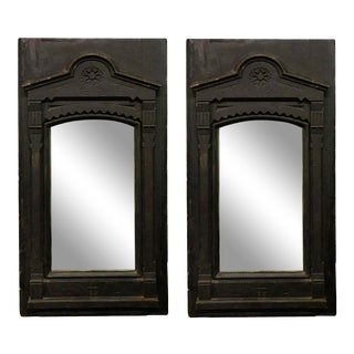 20th Century Traditional Hand Carved Framed Mirrors - a Pair