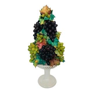 Vintage Italian Majolica Grapes Topiary For Sale