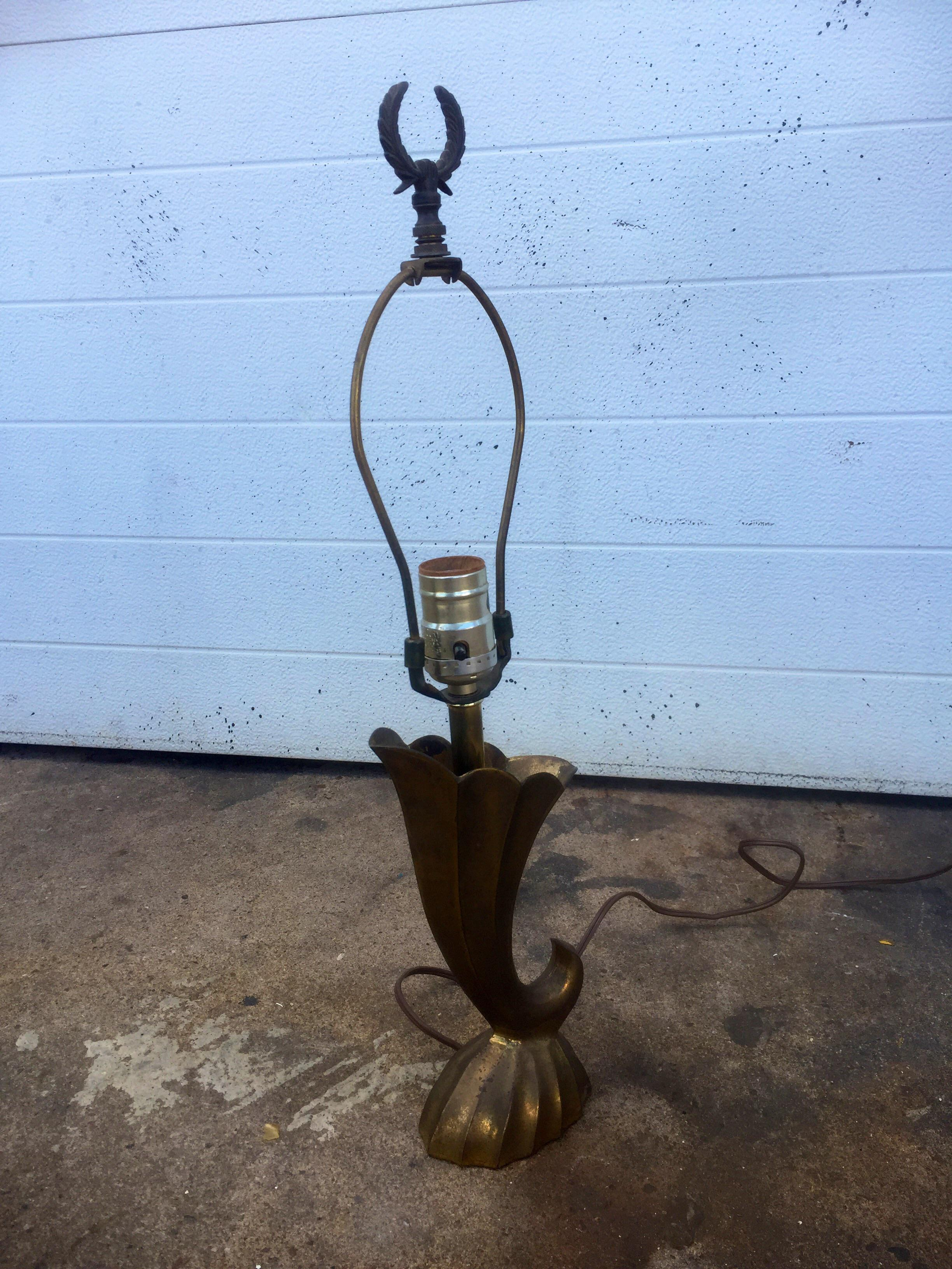 Pierre Cardin Style Vintage Solid Brass Table Lamp Chairish