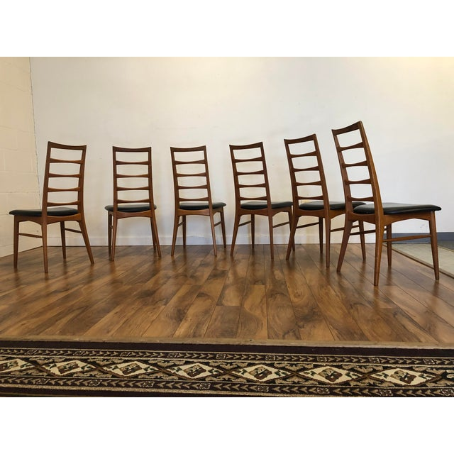 Black Niels Koefoed for Koefoeds Hornslet Lis Teak Ladder Back Dining Chairs - Set of 6 For Sale - Image 8 of 13