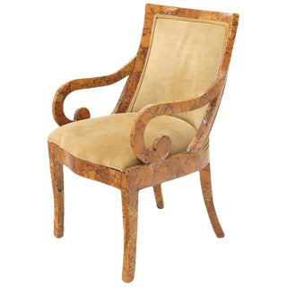 Shell Chips Finished Regency Style Chair For Sale