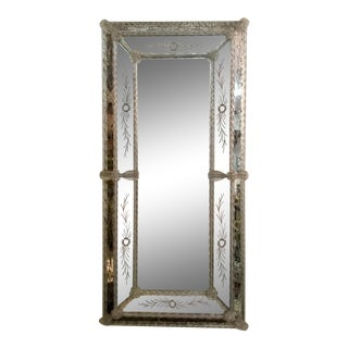 Venetian Mirror With Floral Details For Sale