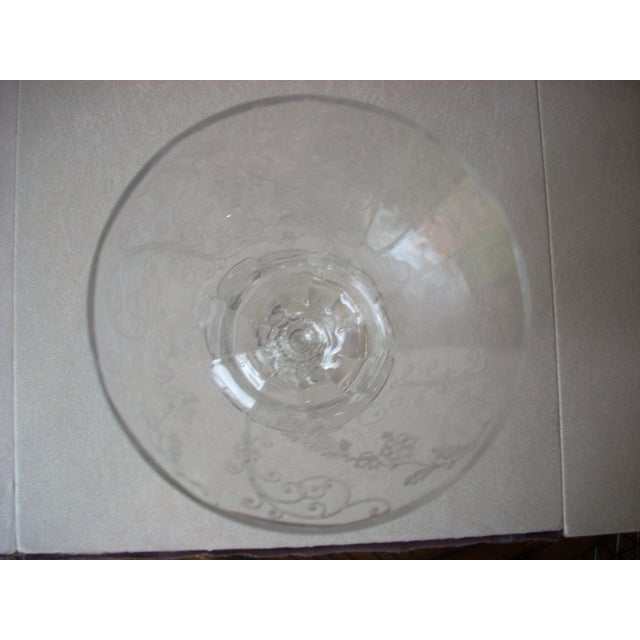 Traditional 1940s Etched Crystal Stems - Set of 8 For Sale - Image 3 of 7