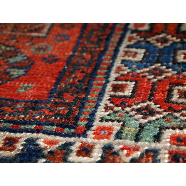 1910s Antique Persian Shiraz Rug - 3′9″ × 5′ - Image 3 of 11