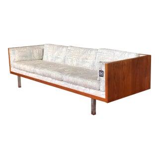 Mid Century Modern Danish Teak Cased Sofa For Sale