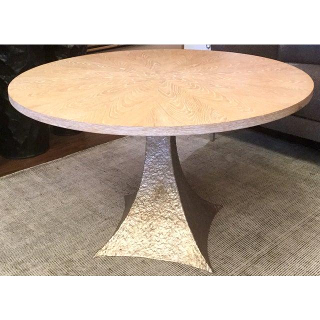 Cerused Oak Round Pedestal Table - Image 2 of 7