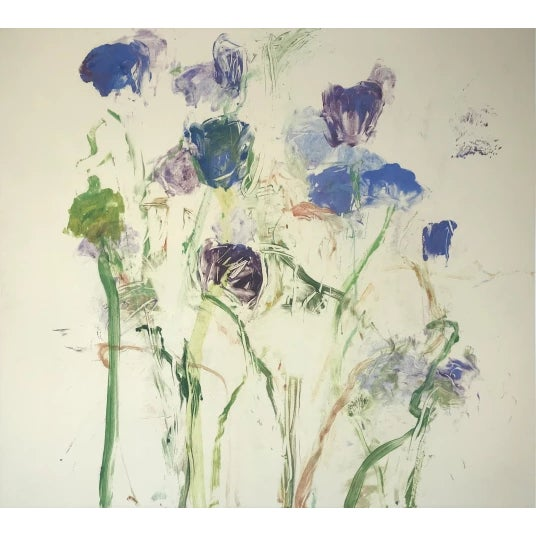 """Abstract Susan Hambleton """"Blue 5"""", 1998 For Sale - Image 3 of 3"""