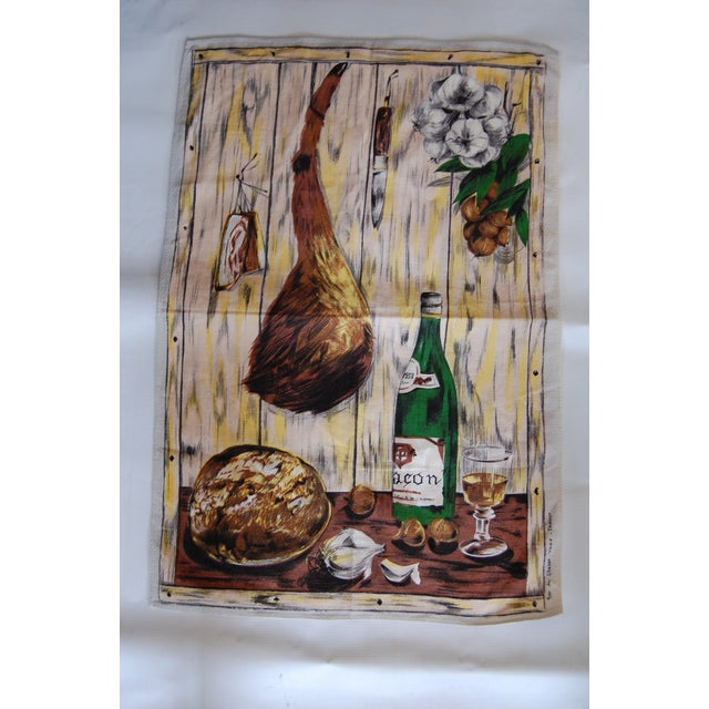 Vintage French Vony Tea Towel - Image 2 of 6