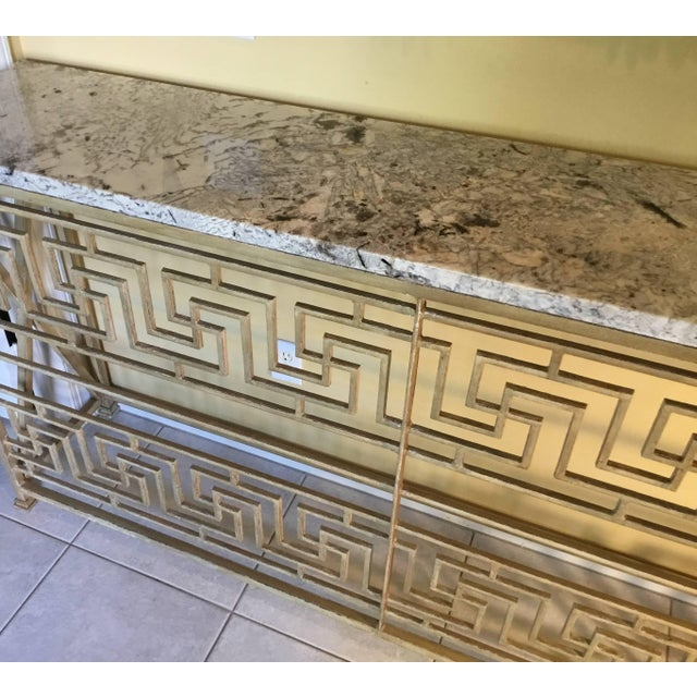 Neoclassical Iron Console For Sale - Image 4 of 11
