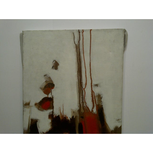 "This is an original signed painting on xanvas that is titled ""Flowing Red"" painted by Frederick McDuff. Frederick McDuff..."