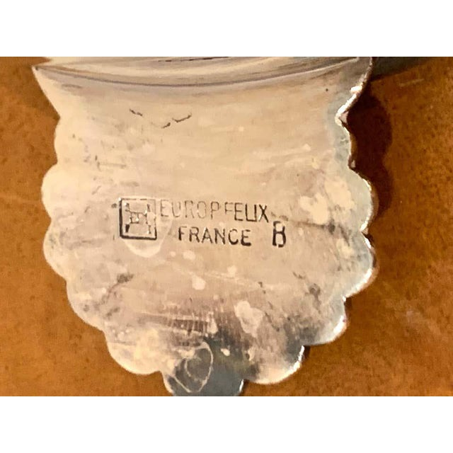 French Silverplated Handled Open Tureens/ Pot De Crème by Europe Felix - Set 6 For Sale - Image 9 of 10