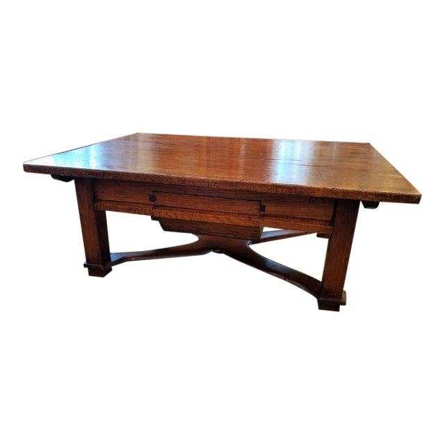 Rustic French Oak Coffee Table For Sale