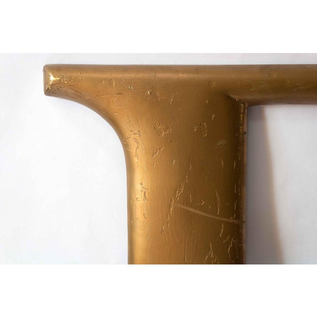 American Mid Century Gold Letter F For Sale - Image 3 of 5