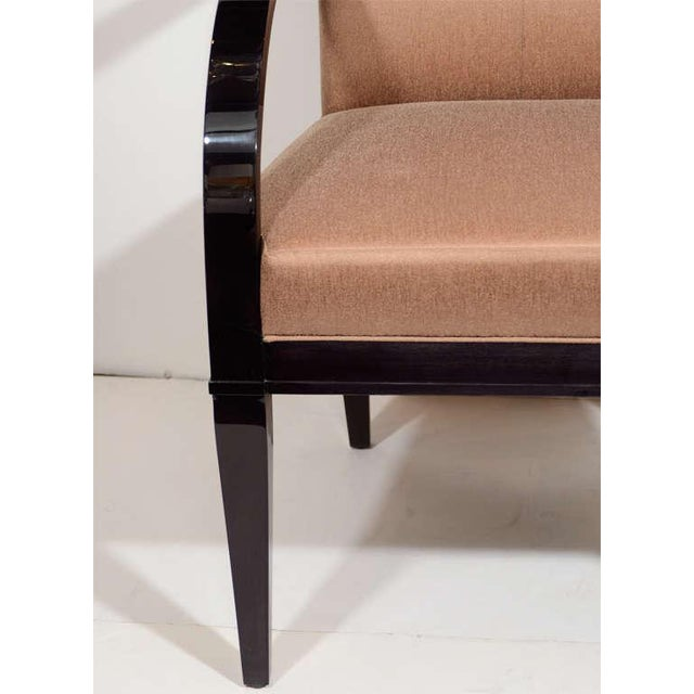 Modern Modernist Dining Chair with Bent Arm Design For Sale - Image 3 of 8