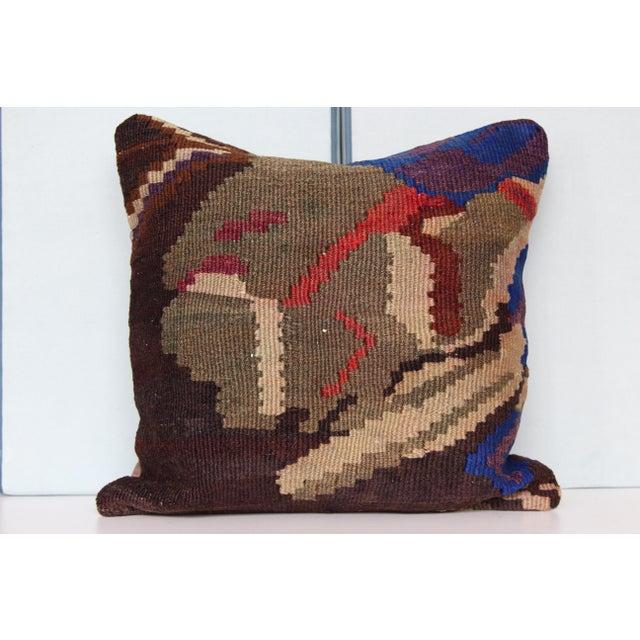 Tribal Vintage Turkish Kilim Decorative Handmade Pillow Cover For Sale - Image 3 of 8