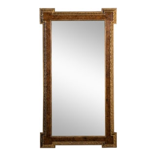 Late 19th Century William Kent Style Burl Elm and Gilded Mirror For Sale