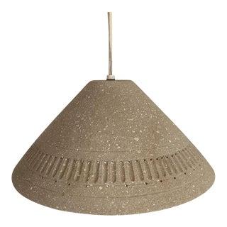 Mid-Century Modern Danish Handmade Ceramic Hanging Pendant Lamp For Sale