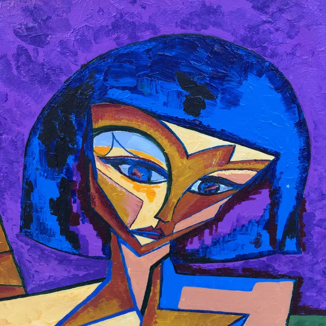Impressive avant garde nude woman cubist oil painting. Cubism considered to be one of the most influential art movements...