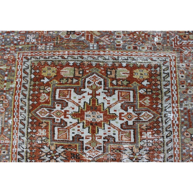 Brown 1930s Semi Antique Karadjeh Rug - 2′11″ × 4′5″ For Sale - Image 8 of 11