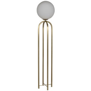 Moriarty Floor Lamp, Antique Brass For Sale