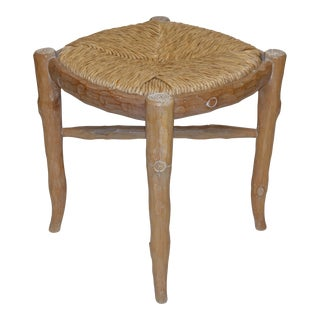 Michael Taylor Style Faux Twig Stool For Sale