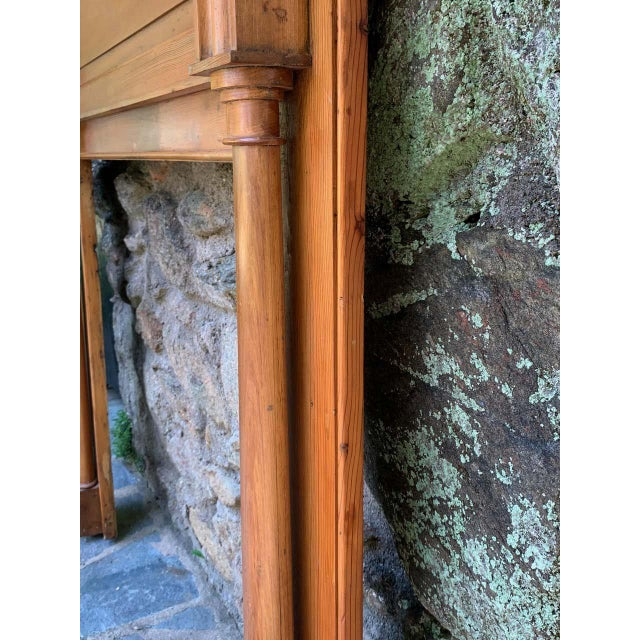 Brown Early 19th Century Pine Fireplace Mantel For Sale - Image 8 of 13