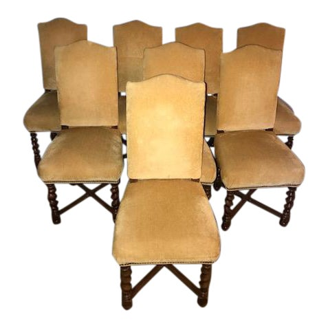 French Vintage Dining Chairs - Set of 8 - Image 1 of 11