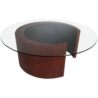 1960s Mid-Century Modern Vladimir Kagan Inspired Cocktail Table For Sale