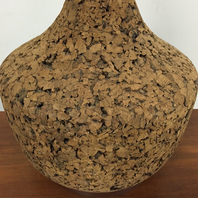 Mid-Century Cork Table Lamp - Image 3 of 8