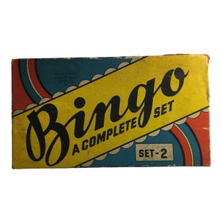 1940s Vintage Bingo Set For Sale