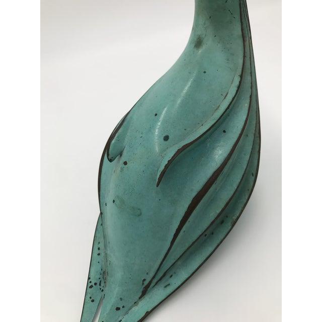 1970s Vintage Metal Bird Sculpture For Sale - Image 4 of 6