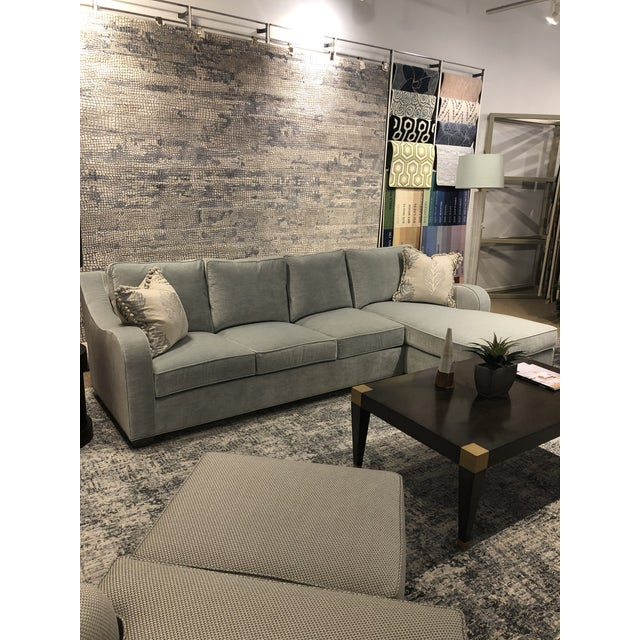 Swaim Factory Transitional 2-Pc Sectional with Pillows For Sale - Image 10 of 12