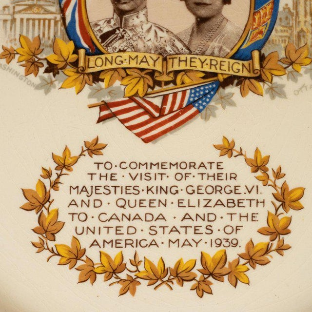 English Art Deco Royal Commemorative Porcelain Coronation Set For Sale - Image 11 of 13