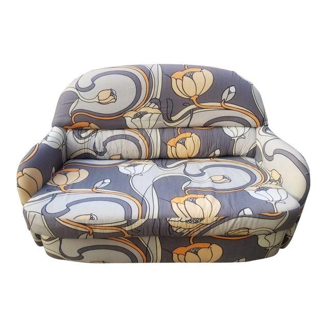 1960s Vintage Milo Baughman Art Nouveau Tub Loveseat For Sale
