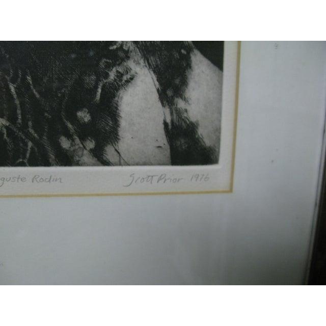 1976 Original Scott Prior Etching of Rodin - Image 5 of 9