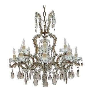 "Large Maria Theresa Seventeen-Light Chandelier (29"" Diameter) For Sale"