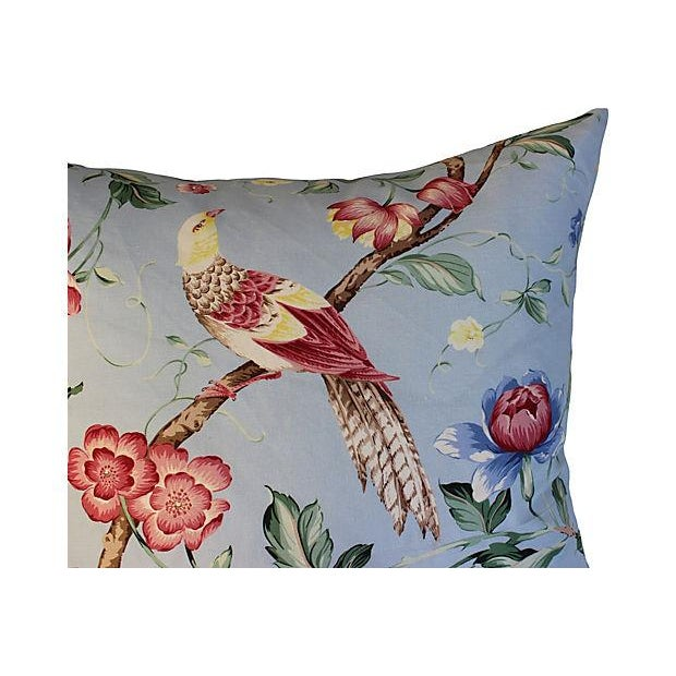 Scalamandre Floral & Bird Chinoiserie Pillows - a Pair For Sale - Image 5 of 6
