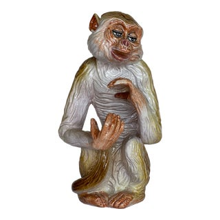 1960s Ceramic Monkey For Sale