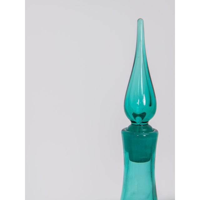 Mid-Century Modern Turquoise Decanter - Image 3 of 7