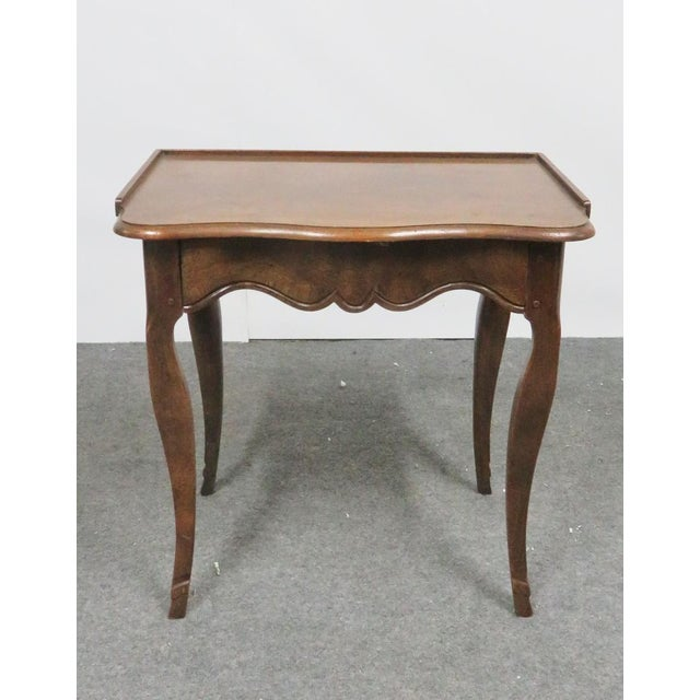 Mid 20th Century Louis XV Baker Walnut Nightstand For Sale - Image 5 of 9