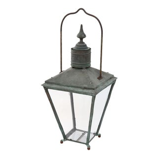 Large English Copper Lantern For Sale