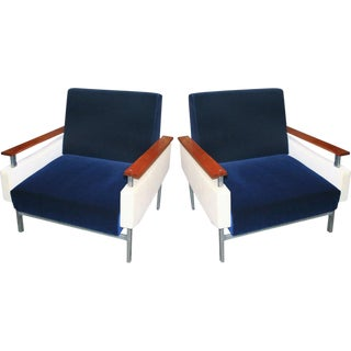 1950s Brazilian Caviuna Armchairs - a Pair For Sale