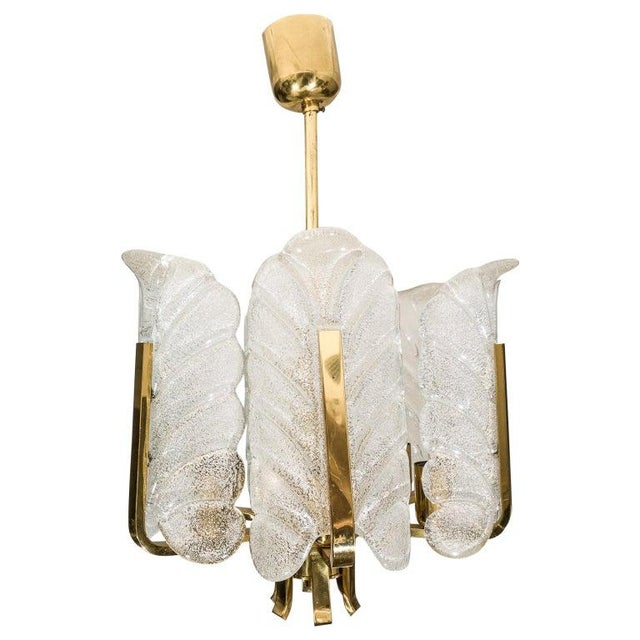 Orrefors Chandelier in Brass and Glass Designed by Carl Fagerlund For Sale - Image 13 of 13