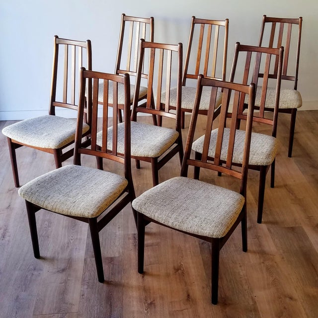 Danish Mid-Century Modern High Back Dining Chairs - Set of 8 For Sale - Image 13 of 13