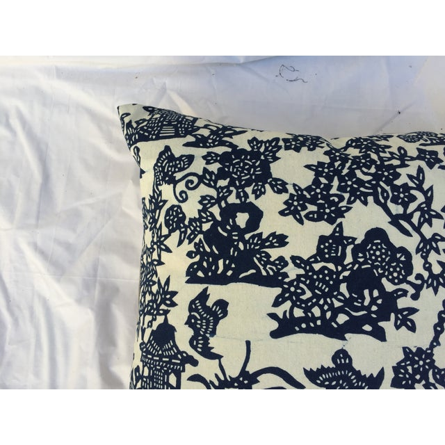 Blue & White Chinoiserie Pillows - A Pair - Image 8 of 9