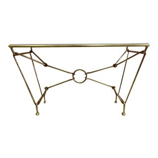 Italian Modern Neoclassical Gilt Iron Console by Giovanni Banci for Hermes For Sale