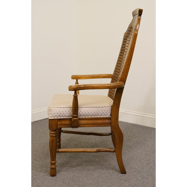 Dixie Late 20th Century Vintage Henry Link Dixie Contemporary Style Cane Back Dining Chair For Sale - Image 4 of 9